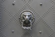 Löwe Türknauf Tür Hintergrund