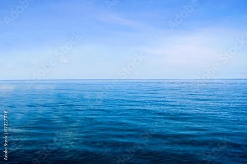 Staande foto Zee / Oceaan Calm Of Horizon Sea Ocean And Blue Sky Background