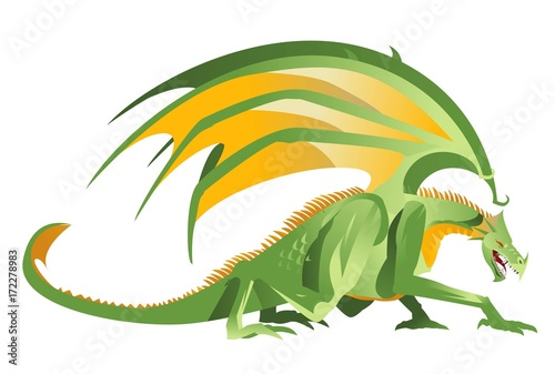 Plakat zielony Smok