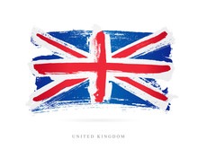 Flag Of The Great Britain. Uni...