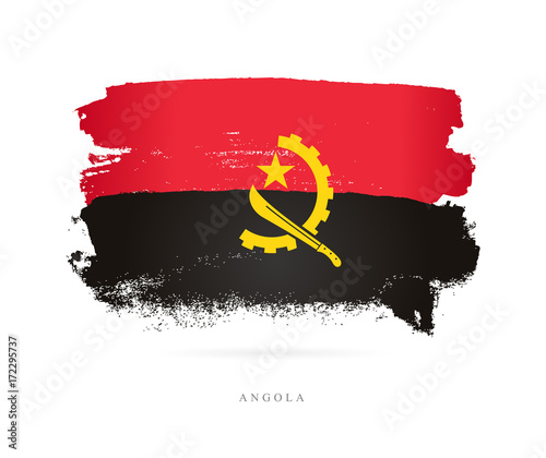 Photo Flag of Angola. Vector illustration