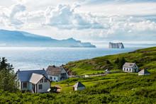 Perce Rock From Bonaventure Island In The Summer