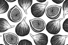 Seamless Vector Pattern With Figs.