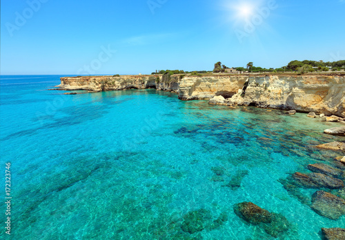 Photo Stands Cyprus Faraglioni at Torre Sant Andrea, Italy