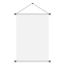Blank White Paper Poster Hangi...