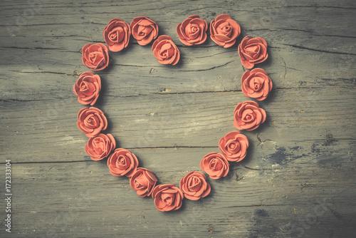 Foto-Tapete - Heart love, shabby card. (von Maruba)