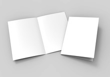 A3 Half-fold Brochure Blank Wh...
