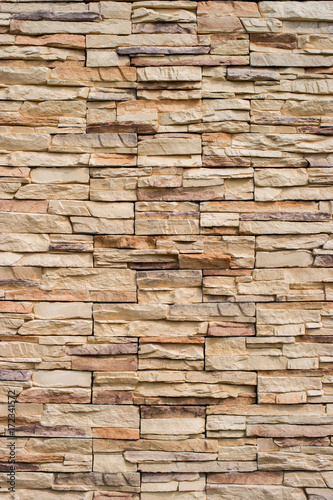 Fototapeta Close up of a brick wall, Modern stone texture background