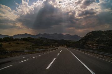 Beautiful mountain road through Montenegro