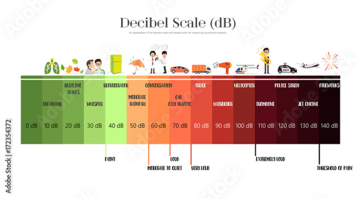 The Decibel Scale Tablou Canvas