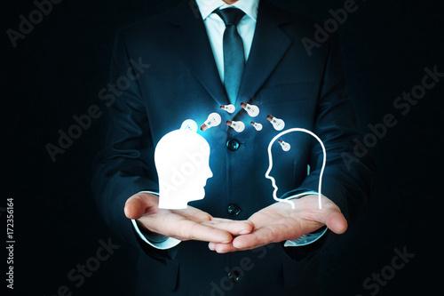 Fotografía  Idea concept. Knowledge transfer