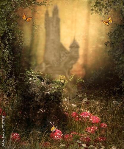 Magical Fairy Woods Castle - 172357923