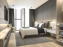 3d Rendering Luxury Modern Bed...