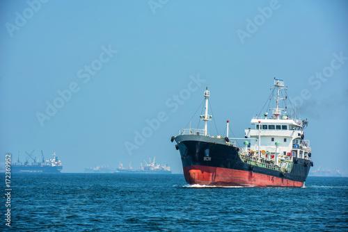 oil tanker, gas tanker in the high sea Refinery Industry