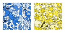 Set Of Graffiti Pattern With U...