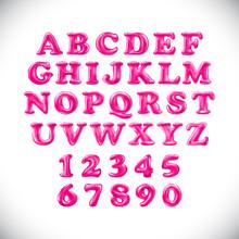 English Alphabet And Numerals ...