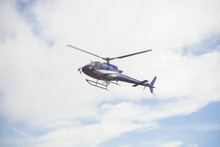 Blue Helicopter In The Sky
