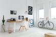 Scandinavian workspace with modern furniture