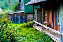 Porch Of An Old Wooden House
