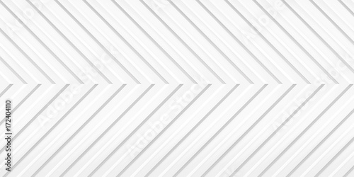 Volume realistic embossing texture, arrow, corner strips, white 3d geometric pat Canvas-taulu