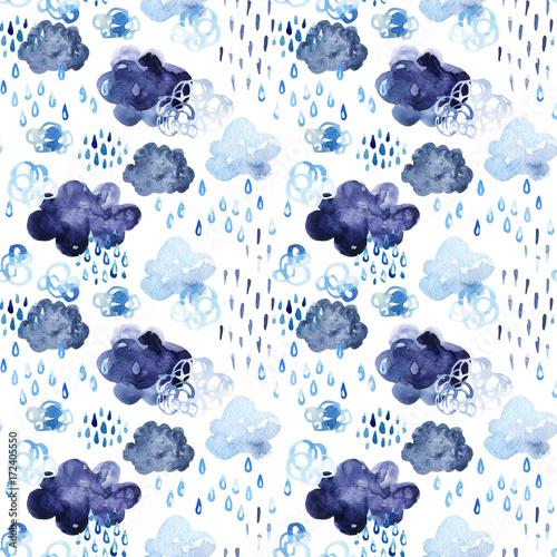 Printed kitchen splashbacks Watercolor Nature Watercolor fall shower seamless pattern.