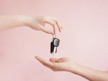 Asian Woman Give Her  Car Key ...