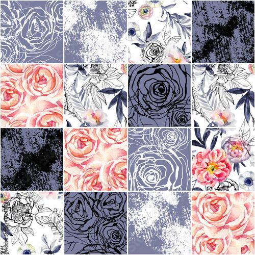 abstrakcyjne-kwadraty-bezszwowe-wzor-akwarela-atrament-doodle-kwiaty-liscie-chwasty