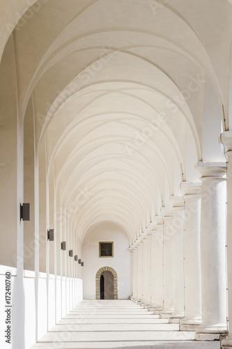 Canvas-taulu White columns passage