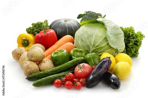Fotobehang Groenten 野菜の集合 Vegetable set