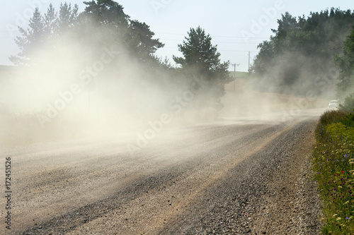 Fototapety, obrazy: Dust country road.