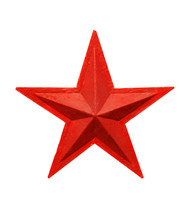 Isolated Red Star Soviet Star