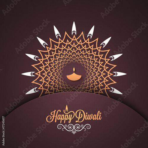 Photo  Diwali vintage card design background.