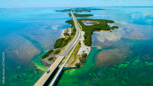 Valokuva Road to Key West over seas and islands, Florida keys, USA.