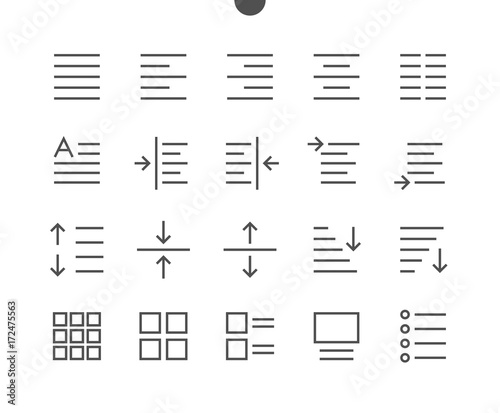Edit text Pixel Perfect Well-crafted Vector Thin Line Icons 48x48 Ready for 24x24 Grid for Web Graphics and Apps with Editable Stroke Canvas Print