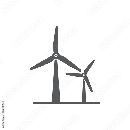Obraz wind power Icon. - fototapety do salonu