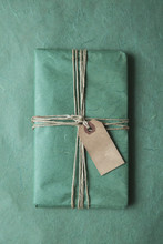 Christmas Present Tied With Twine