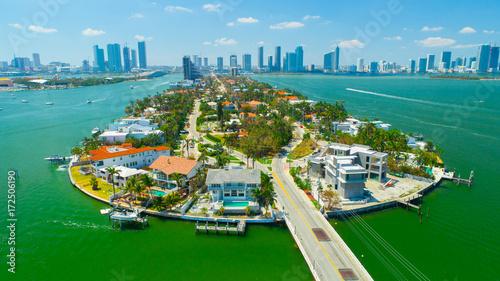 Aerial view of Venetian Islands, Miami Beach, South Beach, Florida, USA.