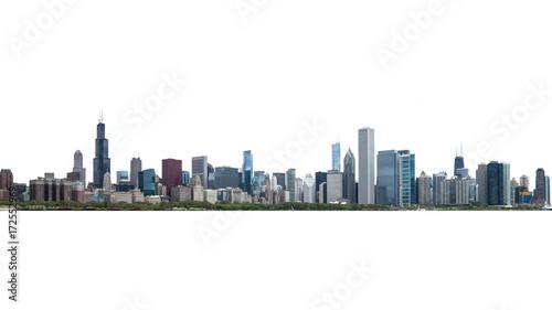 Chicago city skyline on isolate Canvas Print