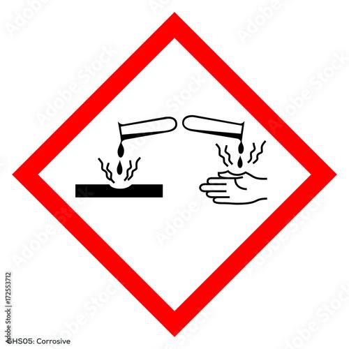 Fotografie, Obraz  Corrosive vector symbol. Global healthy sign of corrosive