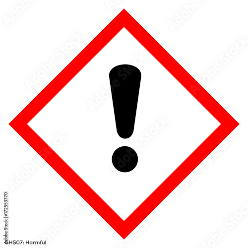 Fotografie, Obraz  Harmfull health GHS symbol vector illustration