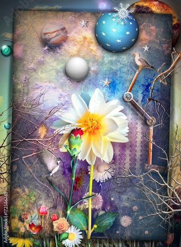 Papiers peints Imagination The secret kingdom-Giardini fiabeschi e incantati dell'eden