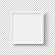 White Realistic Square Empty P...