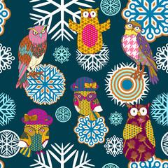 Fototapeta Boże Narodzenie/Nowy Rok Christmas and New Year seamless Pattern, decorations