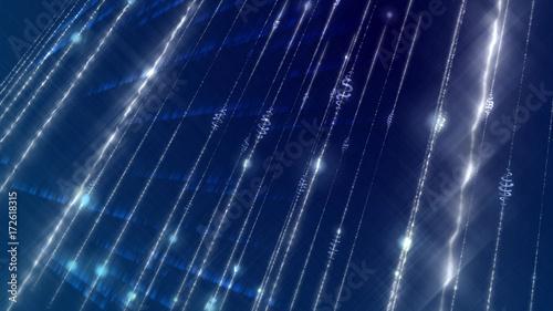 Obraz na płótnie Świetlista, świecąca cyberprzestrzeń uformowała się krzywo