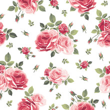 Seamless Pattern With Roses. V...