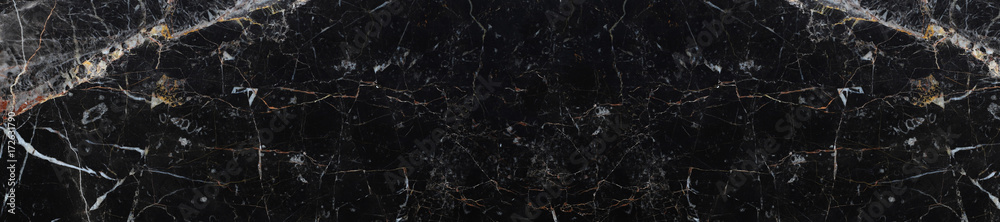 Fototapeta panorama texture black marble background