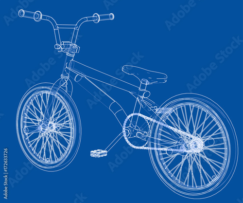 Photo Bicycle bmx. Vector