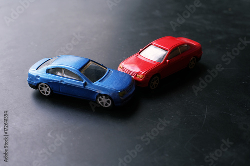 Toy Cars Crash Accident Simulation Red And Blue Car Buy This