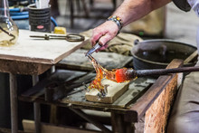 Making A Glass Horse. Murano G...