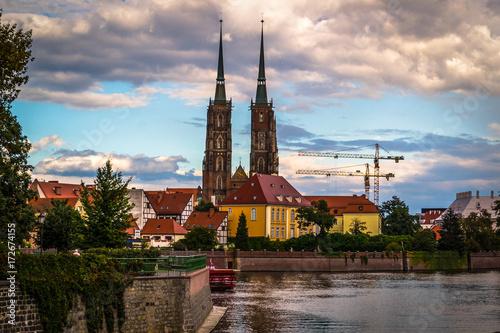 Obraz na dibondzie (fotoboard) Zabytki miasta Wrocławia, Polska